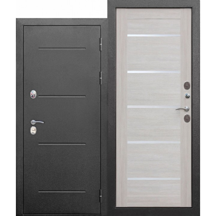 Входная морозостойкая дверь c ТЕРМОРАЗРЫВОМ 11 см Isoterma СЕРЕБРО Лиственница
