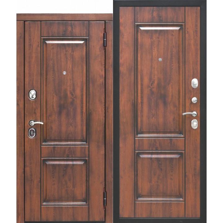 Входная дверь 9,5 см ВЕНА Vinorit Патина МДФ/МДФ Грецкий Орех/Грецкий Орех Патина