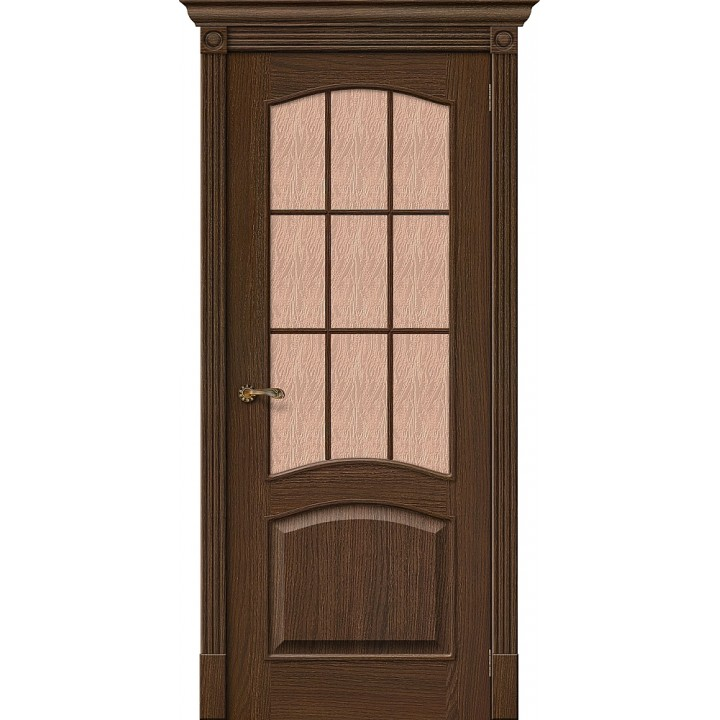 Межкомнатная шпонированная дверь  Вуд Классик-33 Golden Oak в Белгороде на Преображенской 120. Производства Беларусь