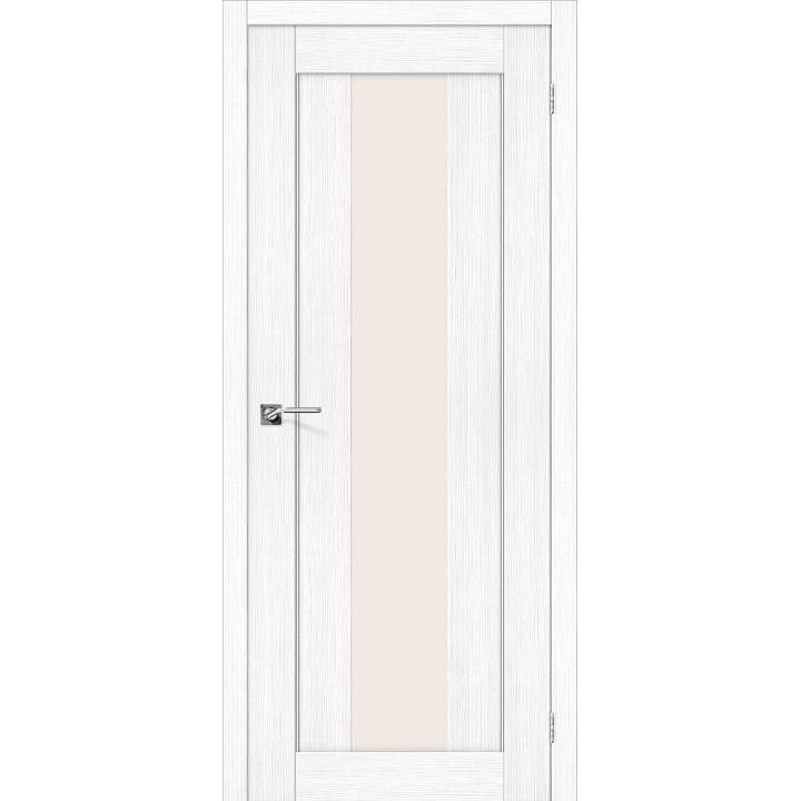 Межкомнатная дверь с покрытием эко шпон Порта-25 alu Snow Veralinga