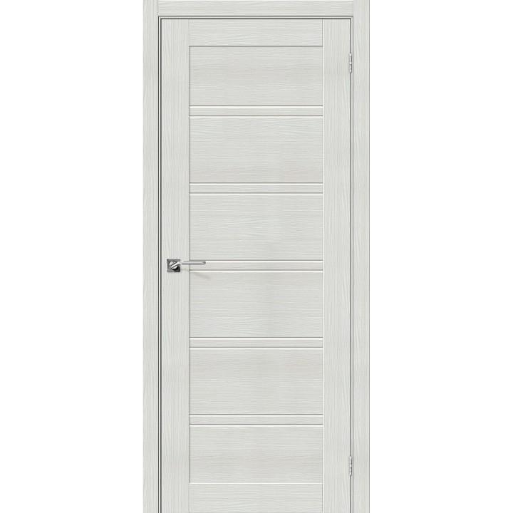 Межкомнатная дверь с покрытием эко шпон Порта-28 Bianco Veralinga