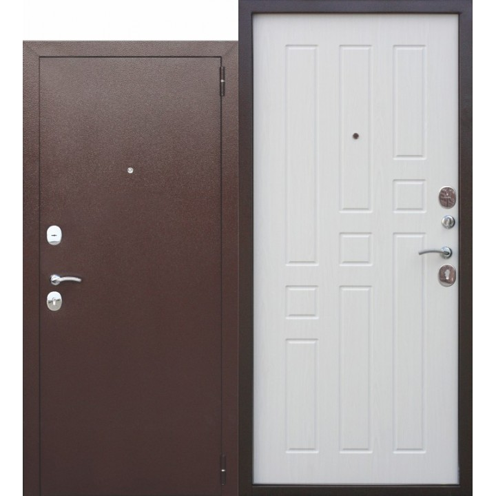 Входная дверь Гарда 8мм Белый Ясень в Белгороде