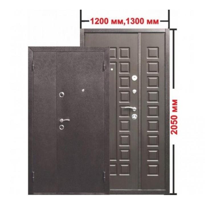 Входная металлическая нестандартная дверь Йошкар Венге 1300*2050