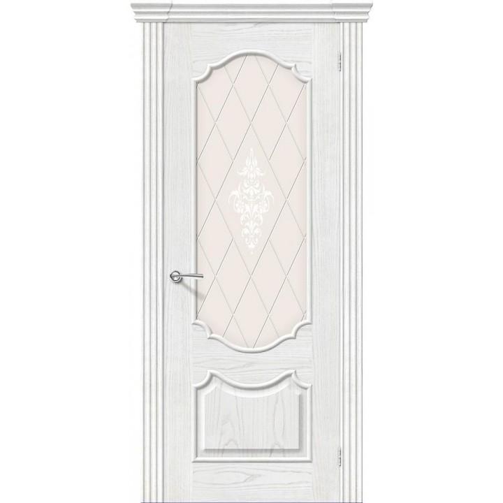 Межкомнатная шпонированная дверь Париж Т-23 (Жемчуг) в Белгороде