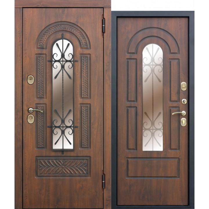 Входная металлическая дверь Vikont со стеклопакетом