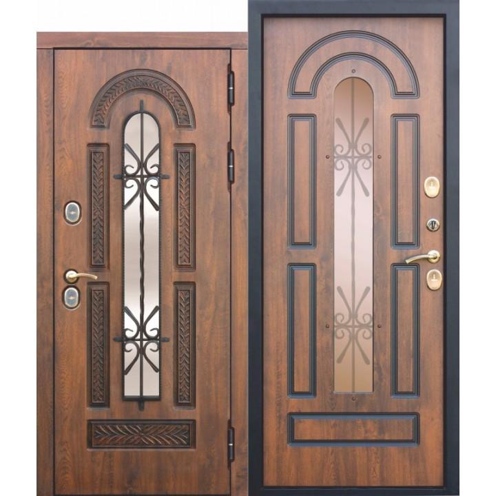 Входная дверь c ТЕРМОРАЗРЫВОМ 13 см VITRA Винорит Патина (Израиль )Грецкий орех